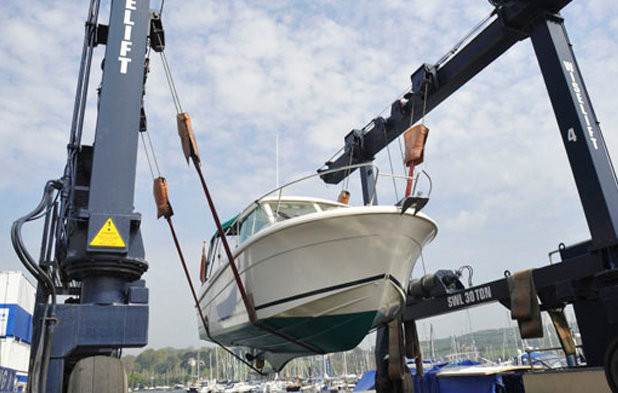 Falmouth Hoist with boat
