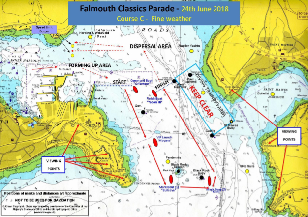 Falmouth Classics Parade - Falmouth Port Notice to Mariners 13 of 2018