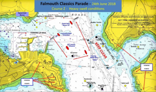 Falmouth Classics Parade - Heavy Swell Conditions - Falmouth Port Notice to Mariners 13 of 2018