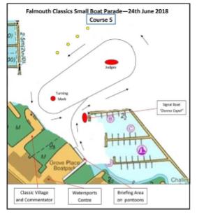 Falmouth Classics Parade - Small Boat Parade - Falmouth Port Notice to Mariners 13 of 2018