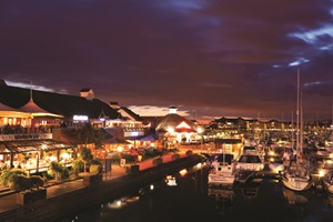 Port Solent at night