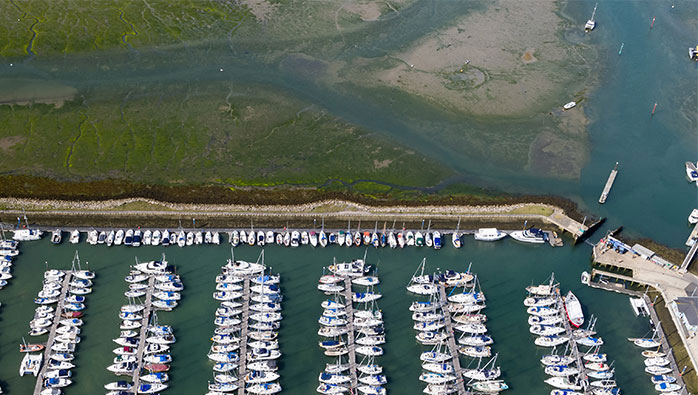 Entrance channel at Southsea Marina