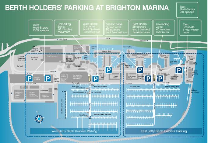 Free Parking for Berth Holders at Brighton Marina