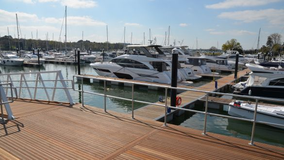 New Pontoons at Swanwick Marina