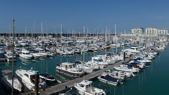 Aerial view of Brighton Marina | Premier Marinas