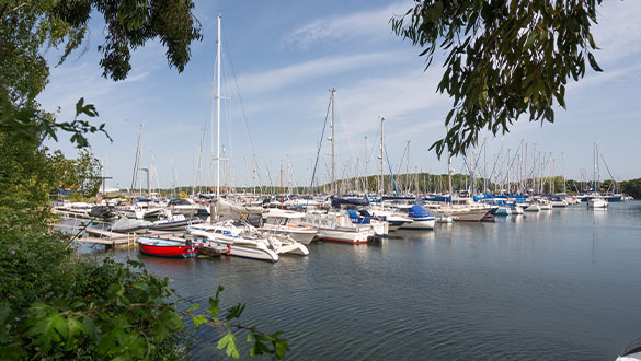 Chichester Marina View of the Pontoons | Premier Marinas