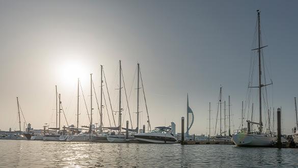 Gosport Marina View Across the Marina with the Spinnaker Tower   Premier Marinas