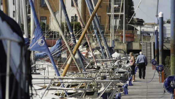 Southsea Marina Piles Painting