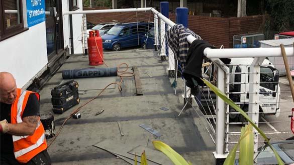 Balcony Maintenance at Falmouth Marina