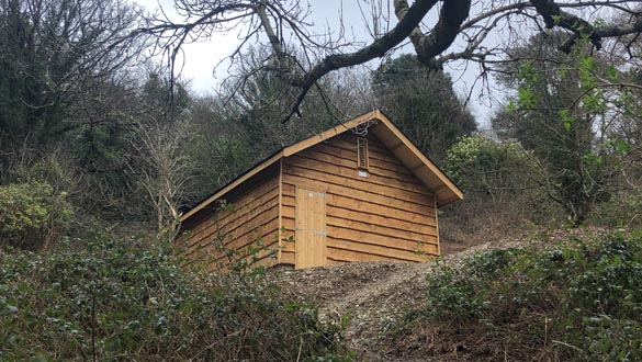 Noss on Dart Marina - New Bat shed