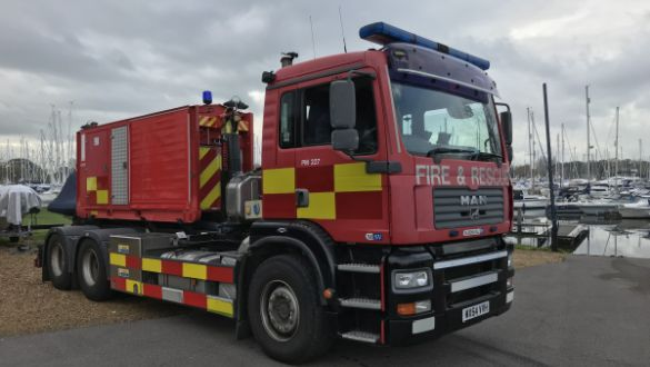 Bognor Fire Service Testing At Chichester Marina