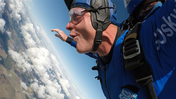 Corey Diaper, Duty Manager at Southsea Marina, completed a charity Skydive to raise funds for Naomi House Children
