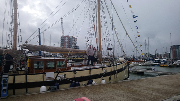 Historic Boat Celebrates 100th Birthday At Gosport Marina