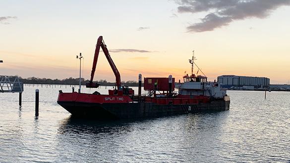 Annual Dredging Has Begun At Port Solent