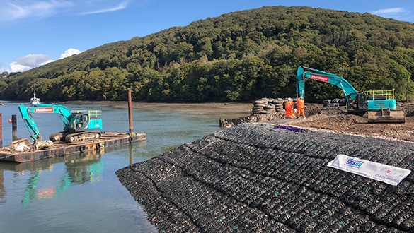 Construction of the New Floating Marina is Underway