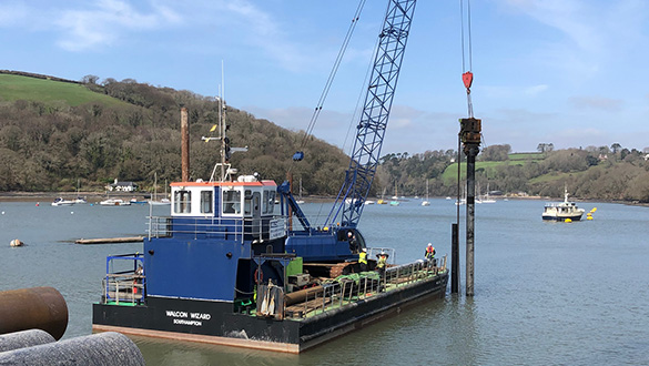 Construction of the New Floating Marina Begins