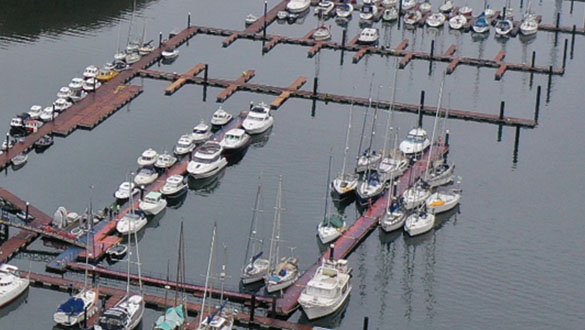 New Floating Marina at Noss on Dart