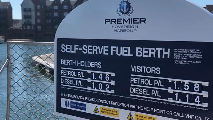 Self Serve Fuel Bay at Eastbourne Marina