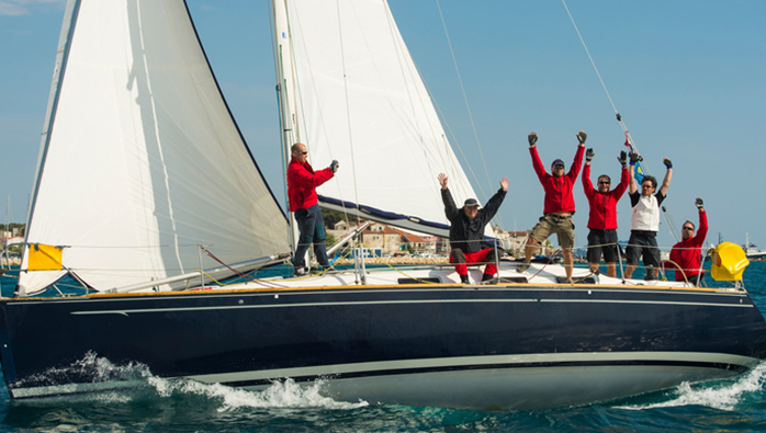 White Sail Event On The River Dart