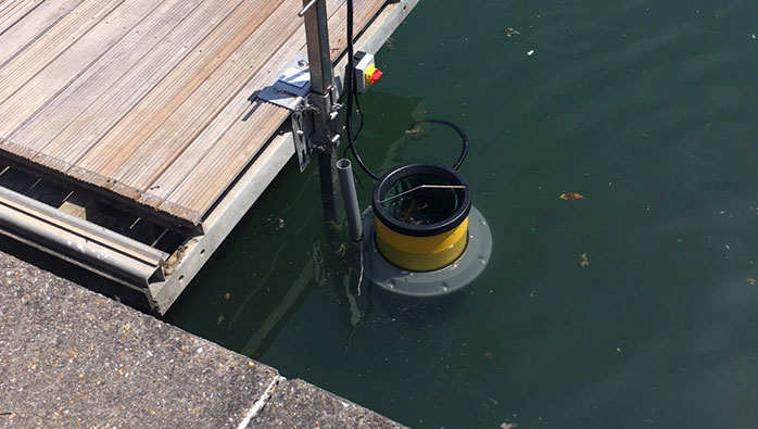 Seabin installed at Port Solent Marina