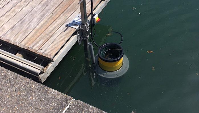 Seabin installed at Port Solent Marina