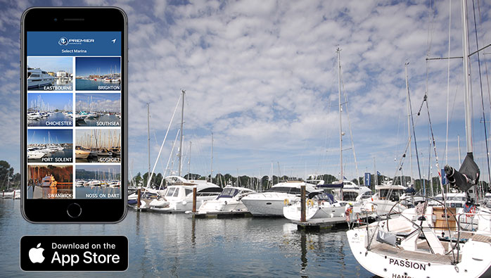 Premier Marinas' New App for iPhone