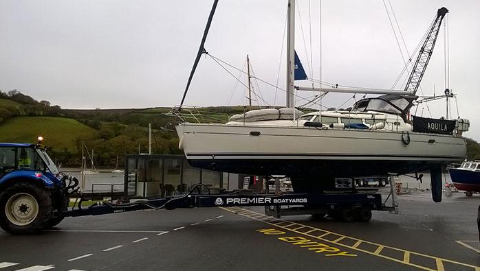 New Equipment Now Lifting Bigger Boats at Noss on Dart Marina