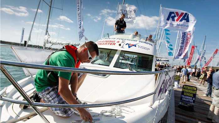 RYA active event man on boat
