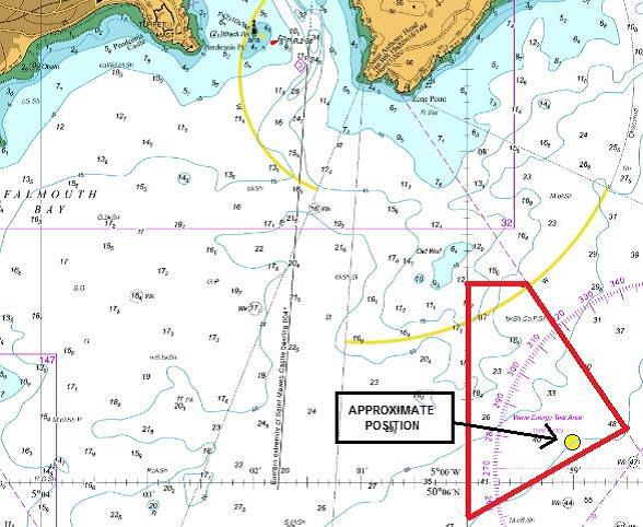 Falmouth Notice to Mariners No 22 of 2019 Chart