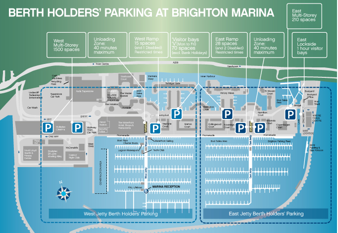 Parking for Berth Holders at Brighton Marina