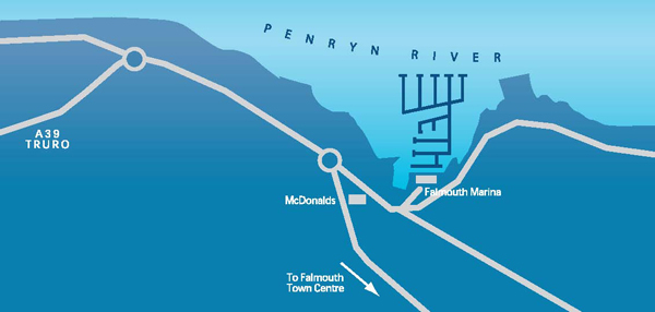 Falmouth Road Map
