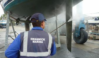 First class facilities at Swanwick Marina Boatyard on The Hamble