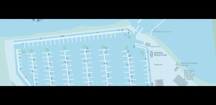 Southsea Marina Map
