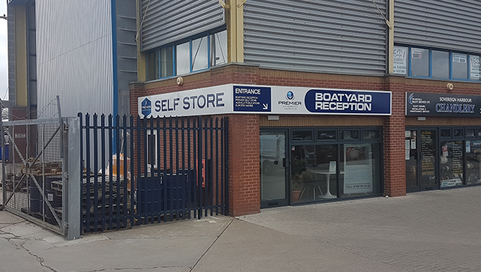 New doors for the Self Store at Eastbourne Marina