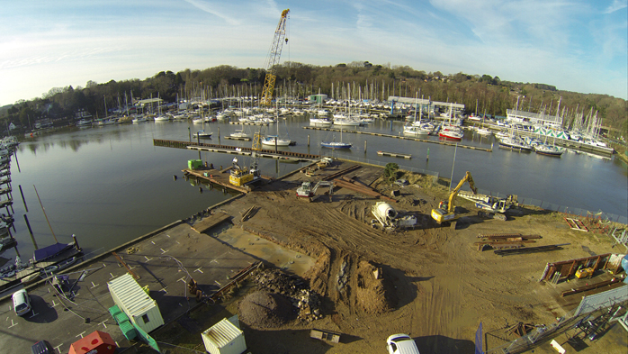 Swanwick Lifting Dock Construction