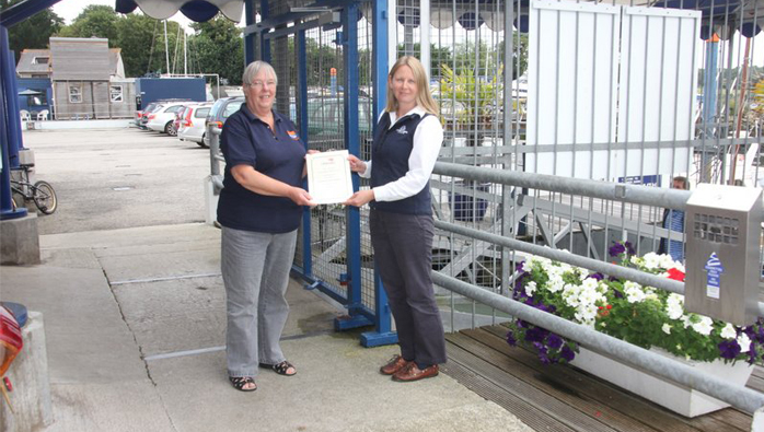 Falmouth Marina Receives Award From The RNLI