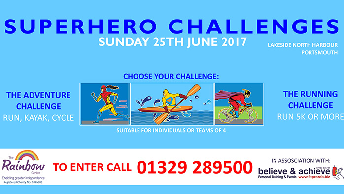 Premier Marinas sponsors The Rainbow Centre's Superhero Challenges