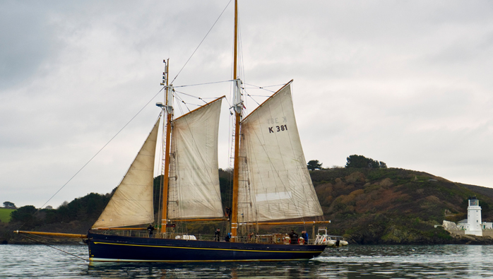 Tall Ship In Falmouth Marina