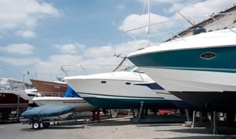 Boats at our first class Boat Yard facilities at Brighton Marina