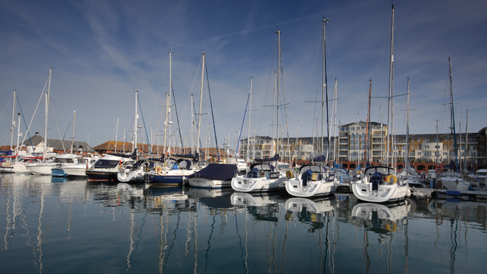 Panoramic Eastbourne marina and property
