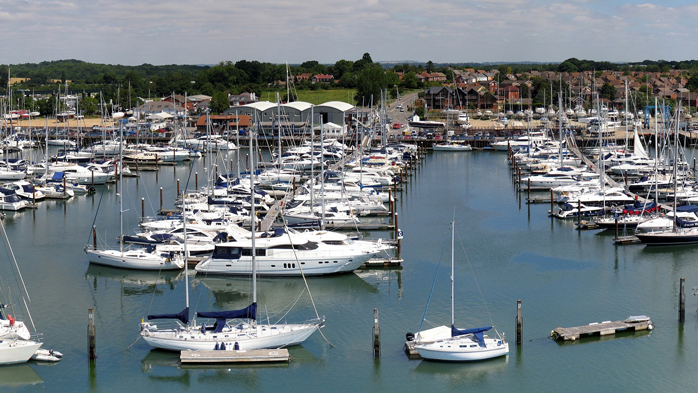 Marina berths and Pile Moorings on the Hamble at Swanwick Marina