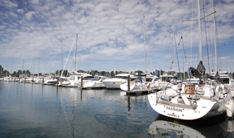 Summer berthing on The Hamble view of Yachts berthed at Swanwick Marina