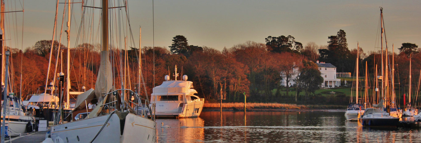 Panoramic view of Premier's Swanwick Marina on the Hamble