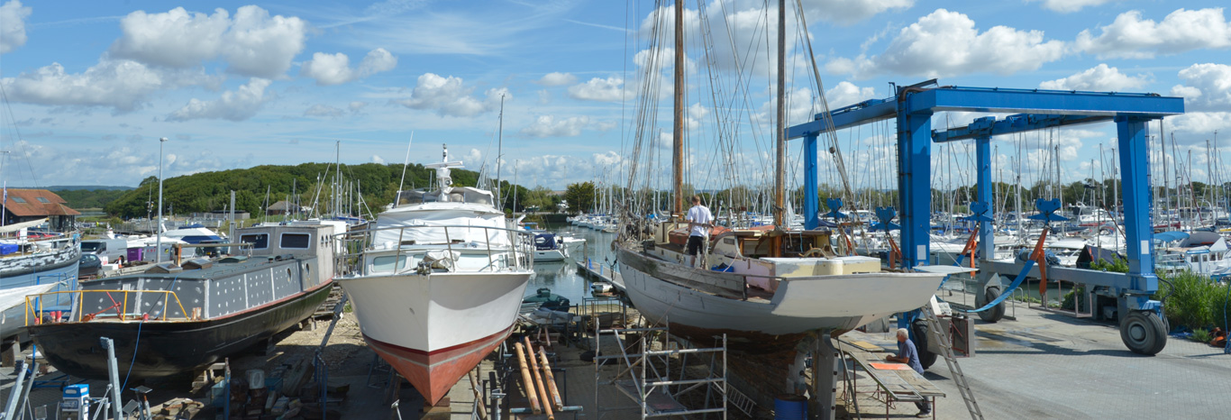 Winter boatyard services at Chichester Marina