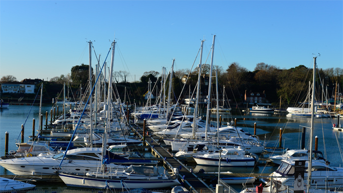 Swanwick Marina In Winter