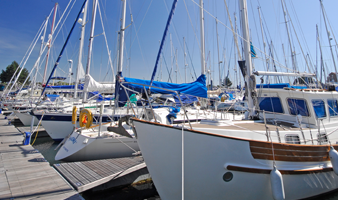 View of visitor Berths at one of 8 Premier South Coast Marinas